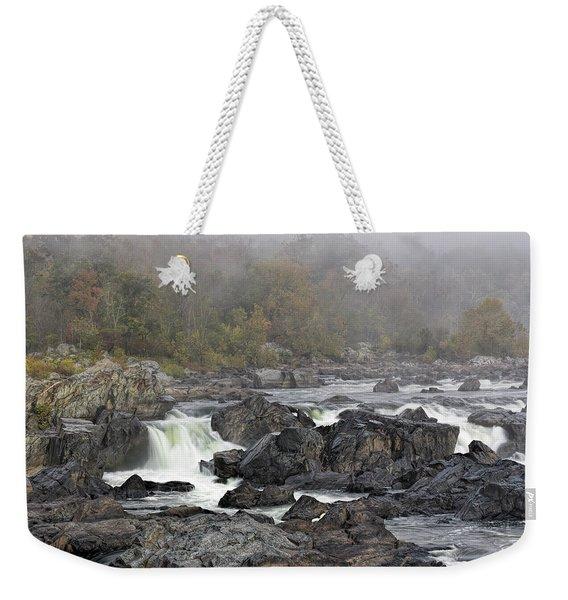 Foggy Great Falls Weekender Tote Bag