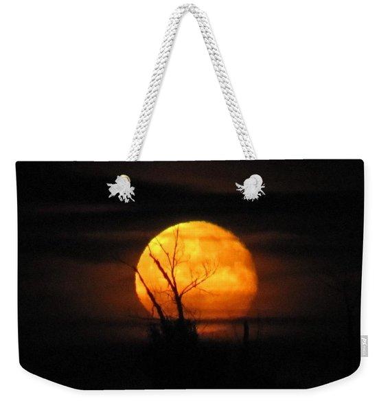 Foggy Harvest Moon Weekender Tote Bag