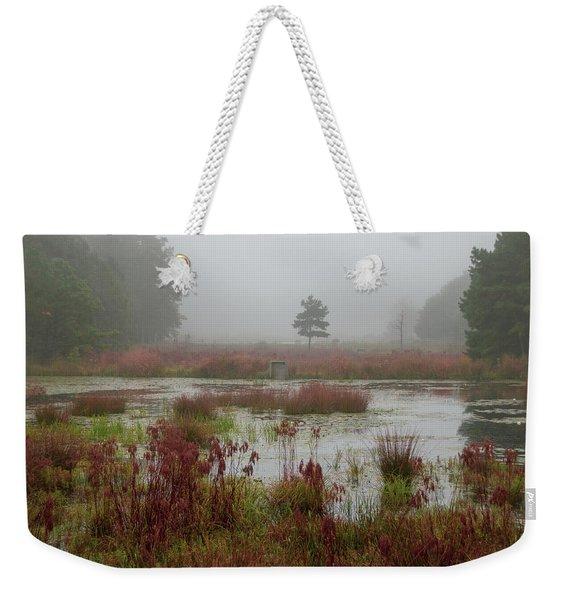 Foggy Morning At Cloverdale Farm Weekender Tote Bag