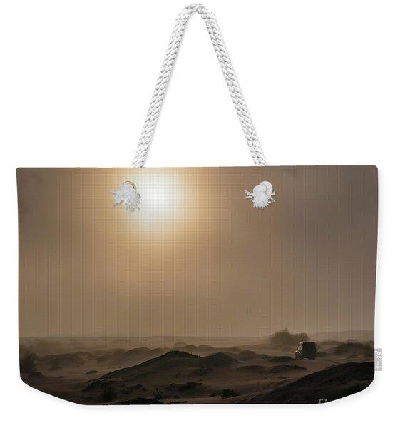 Foggy Morning In The Namib Desert Weekender Tote Bag