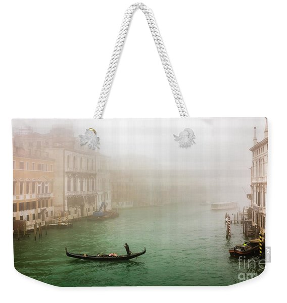 Foggy Morning On The Grand Canale, Venezia, Italy Weekender Tote Bag