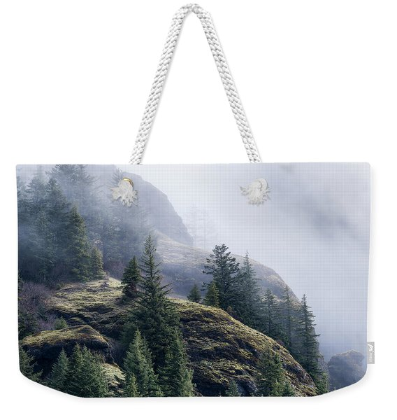 Foggy On Saddle Mountain Weekender Tote Bag