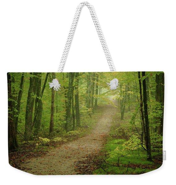 Foggy Path Weekender Tote Bag
