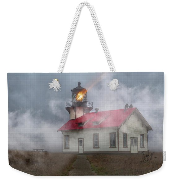 Foggy Point Cabrillo Lighthouse California Weekender Tote Bag