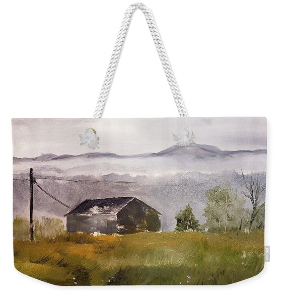 Foggy Tennessee Barn Weekender Tote Bag
