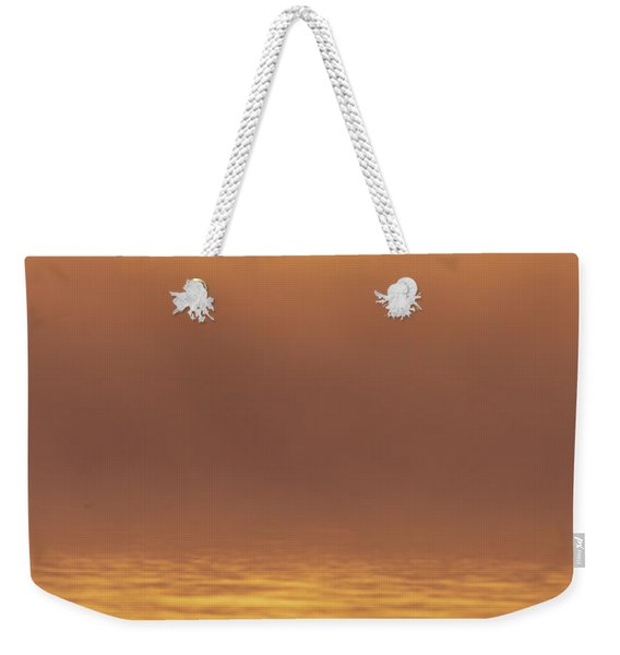 Foggy Wetlands Sunrise Weekender Tote Bag