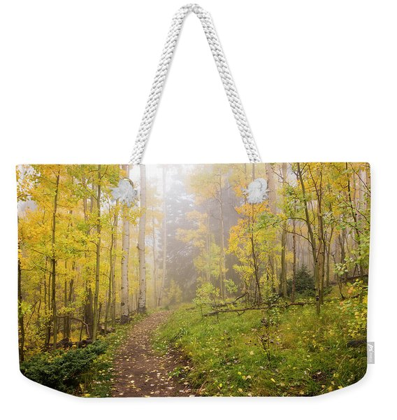 Foggy Winsor Trail Aspens In Autumn 2 - Santa Fe National Forest New Mexico Weekender Tote Bag