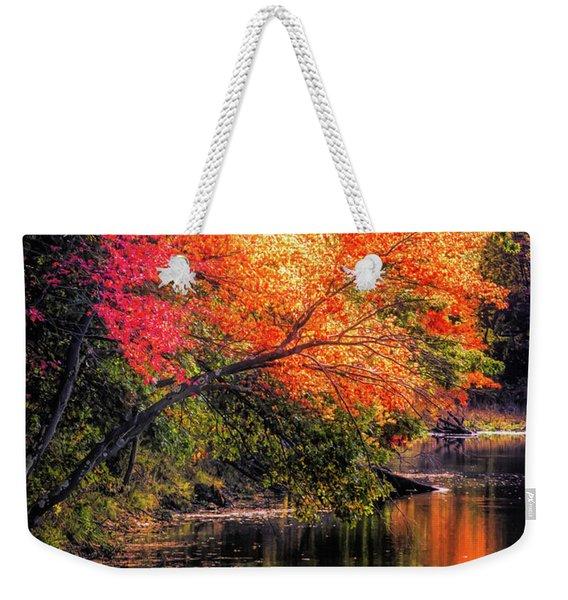 Foliage Over Forge Pond Weekender Tote Bag