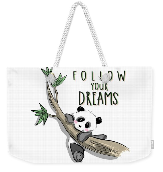 Follow Your Dreams - Baby Room Nursery Art Poster Print Weekender Tote Bag