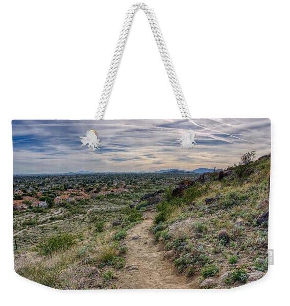 Following The Desert Path Weekender Tote Bag