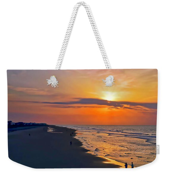 Folly Beach Sunrise Weekender Tote Bag