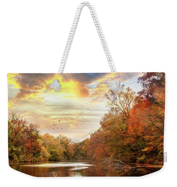 For The Love Of Autumn Weekender Tote Bag