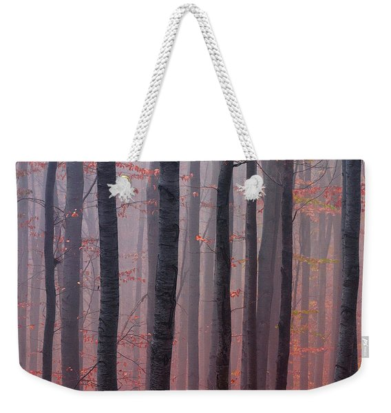 Forest Barcode Weekender Tote Bag