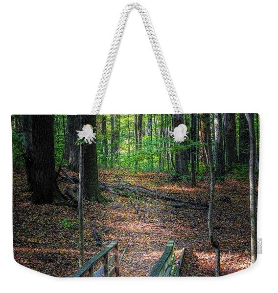 Forest Footbridge Weekender Tote Bag