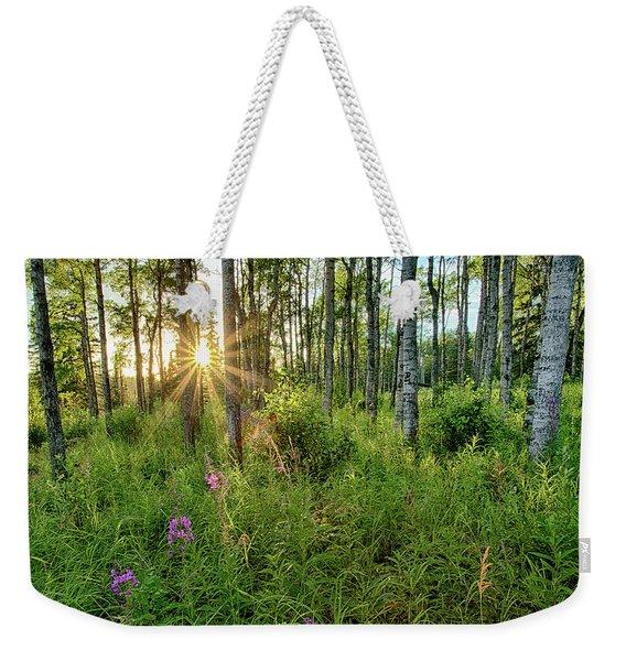 Forest Growth Alaska Weekender Tote Bag