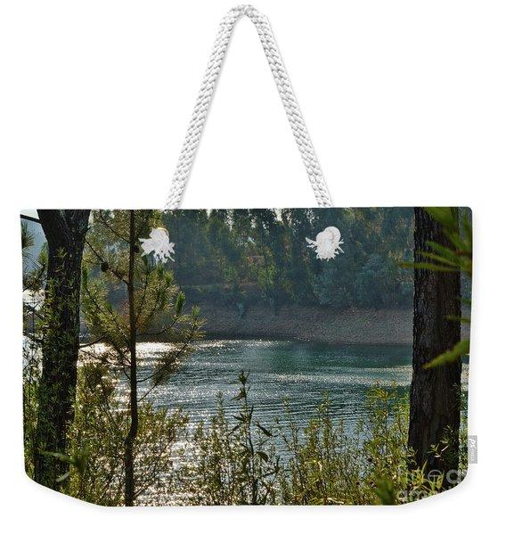 Forest Lake In Amendoa Weekender Tote Bag