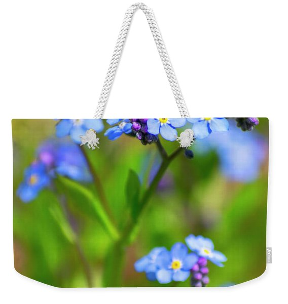 Forget Me Not Wildflowers Weekender Tote Bag