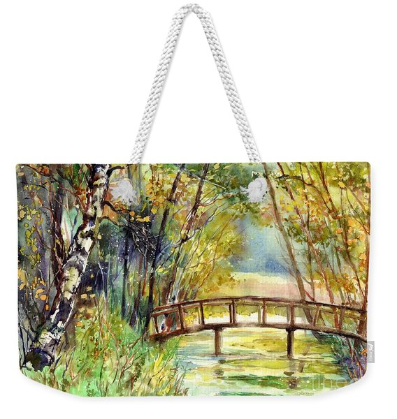 Forgotten Bridge Weekender Tote Bag