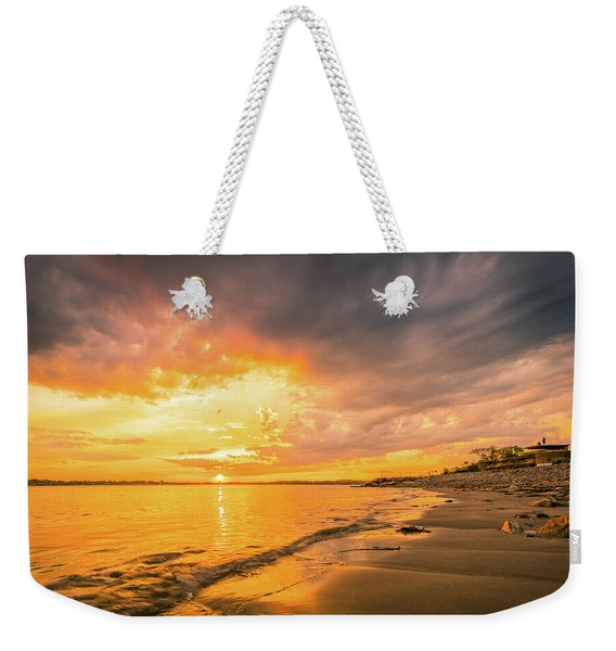 Fort Foster Sunset Watchers Club Weekender Tote Bag