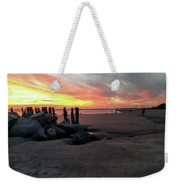 Fort Moultrie Sunset Weekender Tote Bag