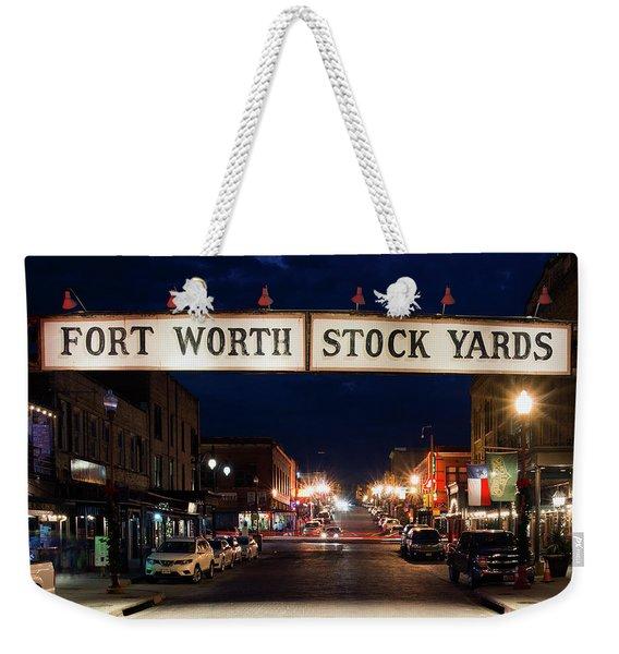 Fort Worth Stock Yards 112318 Weekender Tote Bag