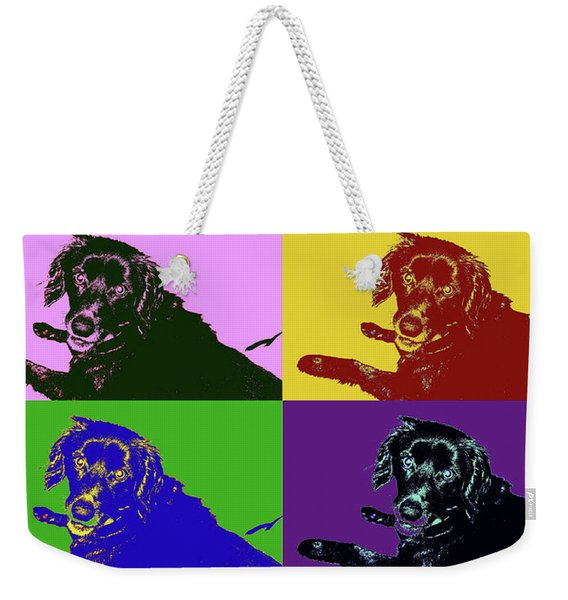 Foster Dog Pop Art Weekender Tote Bag
