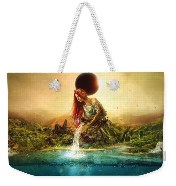 Fountain Of Eternity Weekender Tote Bag