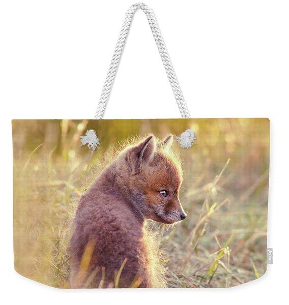 Fox Kit Series - Cuteness In Foxcoat Weekender Tote Bag