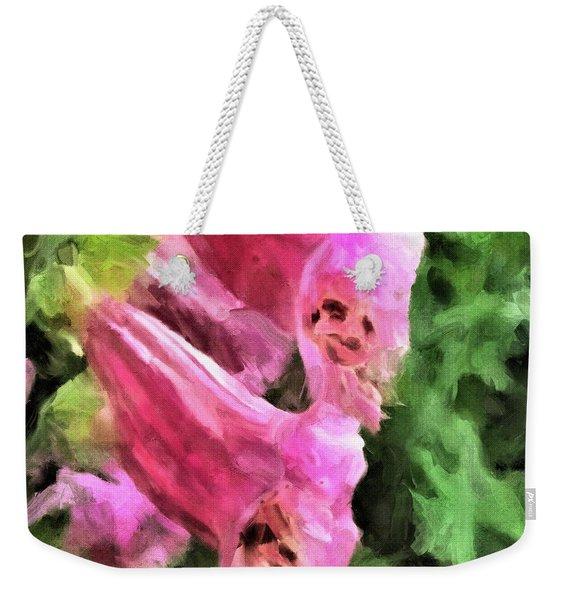 Foxglove Weekender Tote Bag