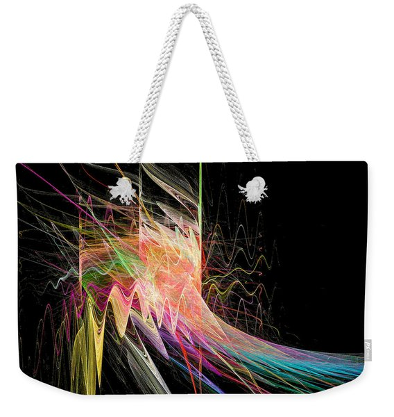 Weekender Tote Bag featuring the digital art Fractal Beauty Deluxe Colorful by Don Northup