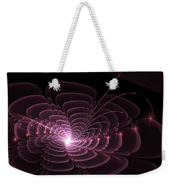 Fractal Rose Weekender Tote Bag
