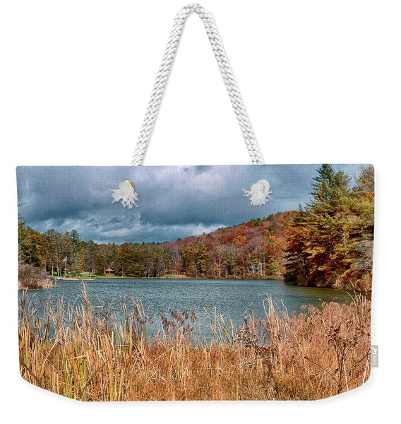 Framed Lake Weekender Tote Bag