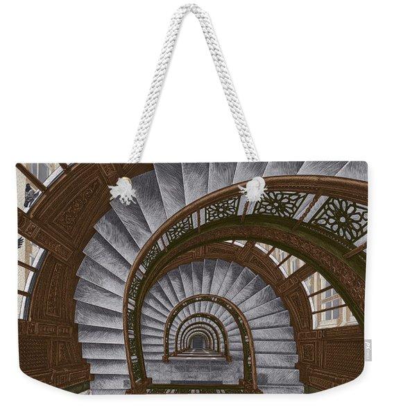 Frank Lloyd Wright - The Rookery Weekender Tote Bag