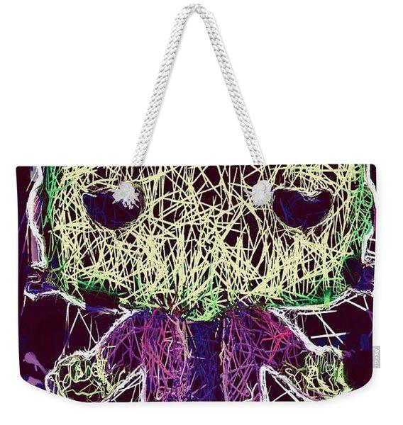 Weekender Tote Bag featuring the mixed media Frankenstein Pop by Al Matra