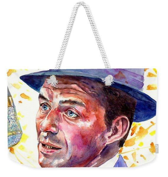 Frank Sinatra Singing Weekender Tote Bag