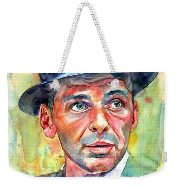 Frank Sinatra Wearing A Fedora Weekender Tote Bag