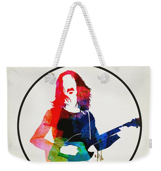 Frank Zappa Watercolor Weekender Tote Bag