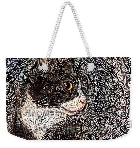 Franklyn The Tuxedo Cat Weekender Tote Bag