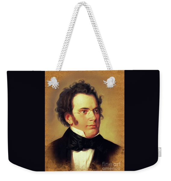 Franz Schubert, Music Legend Weekender Tote Bag