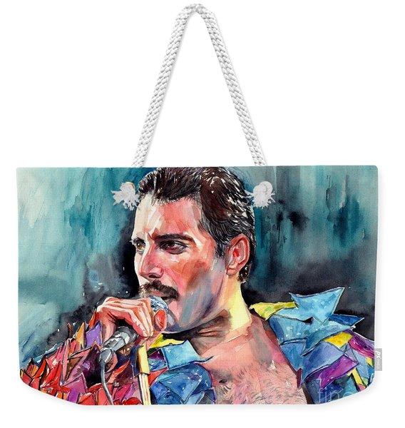 Freddie Mercury, New York City 1983 Weekender Tote Bag