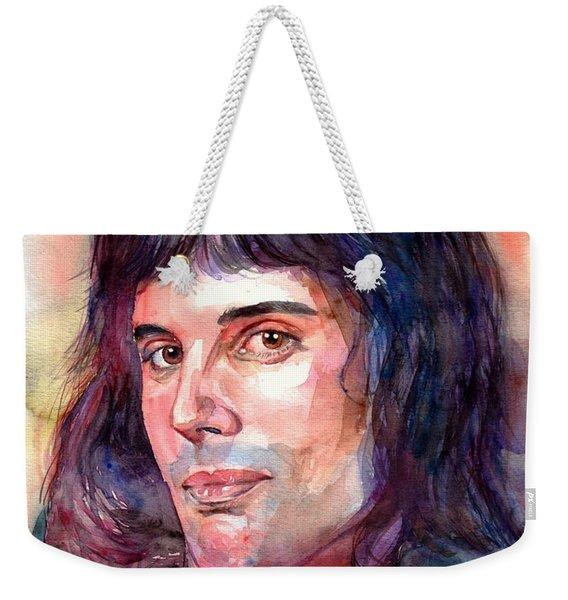 Freddie Mercury Young Weekender Tote Bag