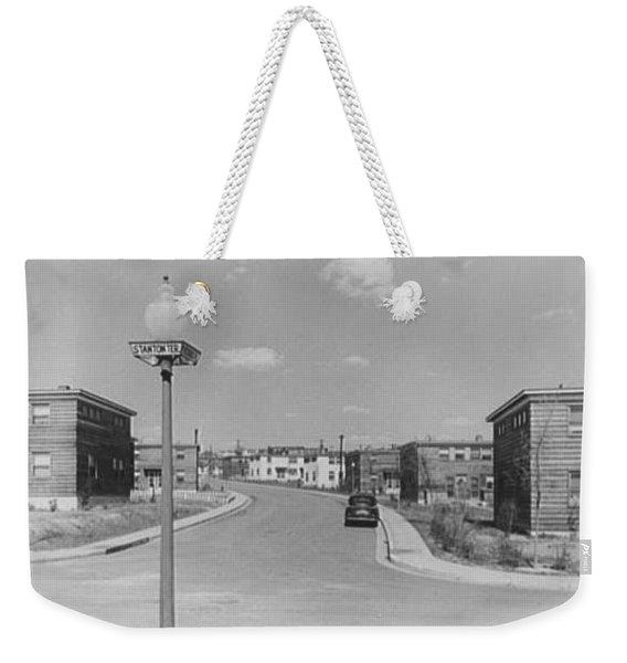 Frederick Douglass Houses, Washington, D.c. Street View II 1944 Weekender Tote Bag