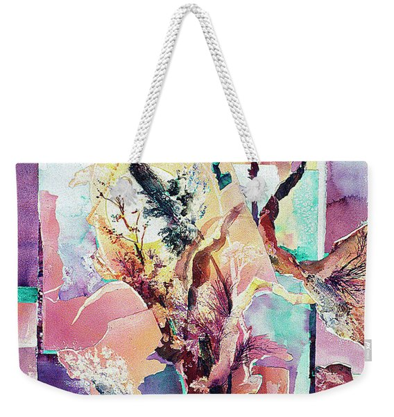 Free-form Cattails Weekender Tote Bag
