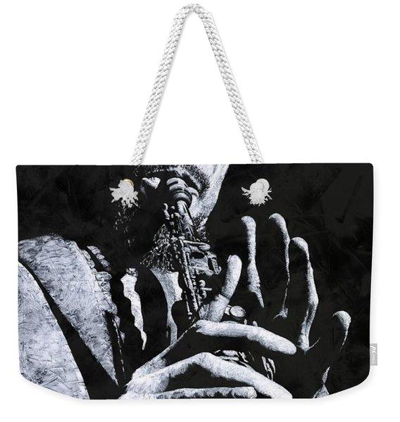 Freedom In Sax Weekender Tote Bag