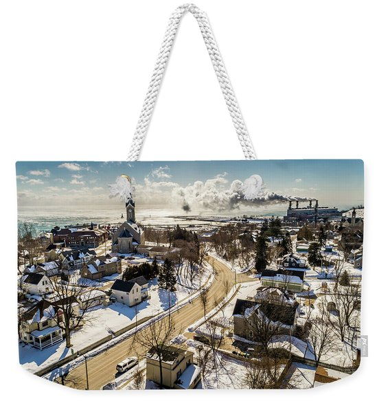 Freezing In Port Weekender Tote Bag