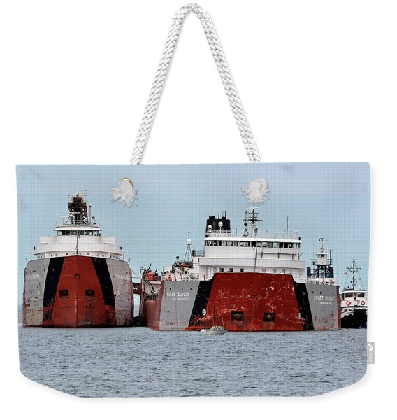 Freighter Grounded Weekender Tote Bag