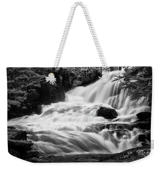 French Alps Stream Weekender Tote Bag