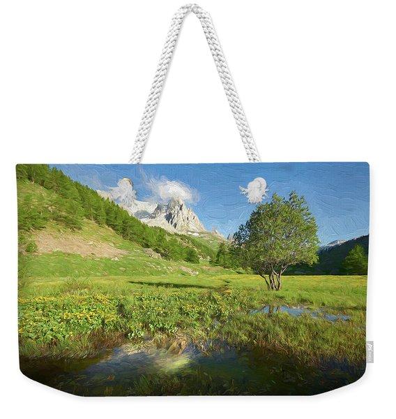 French Alps Valley II Weekender Tote Bag