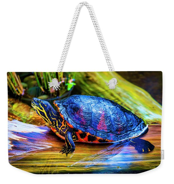 Freshwater Aquatic Turtle Weekender Tote Bag