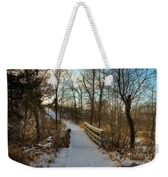 Frigid Landscape Weekender Tote Bag